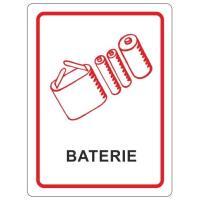 Samolepky na tříděný odpad 120x160 mm baterie