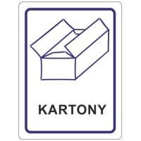 Samolepky na tříděný odpad 120x160 mm kartóny