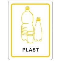 Samolepky na tříděný odpad 120x160 mm plast