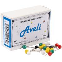 Špendlíky AVELI barevný mix 50 ks