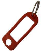 Štítky na klíče plastové 100 ks červené