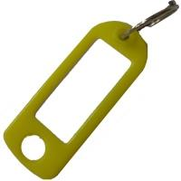 Štítky na klíče plastové 100 ks žluté