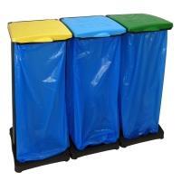Stojan na 3 odpadkové pytle pro tříděný odpad