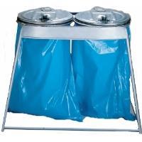 Stojan na odpadkové pytle 2x120l s víkem
