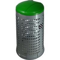 Stojan na odpadkové pytle ECO 120 l, víko zelené