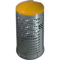 Stojan na odpadkové pytle ECO 120 l, víko žluté