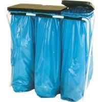 Stojan na odpadkové pytle s víkem Trio 3x70 l