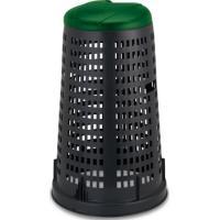Stojan na pytle na tříděný odpad PROFI, zelené víko