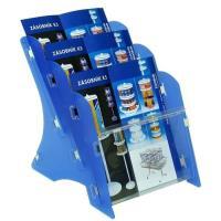 Stojan na tiskoviny MK3 stolní 3xA5 PP modrý