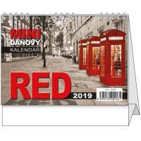 Stolní daňový kalendář Red mini 2019