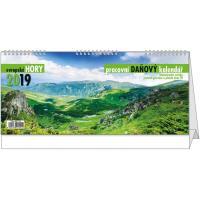 Stolní kalendář - Daňový kalendář - evropské hory 2018