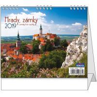 Stolní kalendář IDEÁL Hrady, zámky a památky ČR 2018