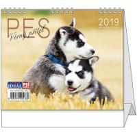 Stolní kalendář IDEÁL Pes, věrný přítel 2019