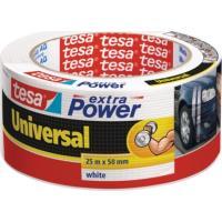 Textilní páska TESA Extra Power Universal, 25 m x 50 mm bílá