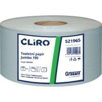 Toaletní papír CLIRO Jumbo dvouvrstvý prům. 19 cm