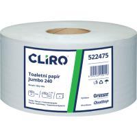 Toaletní papír CLIRO Jumbo dvouvrstvý průměr 24 cm