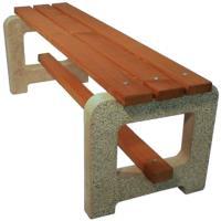 Venkovní betonová lavička Big bez opěradla