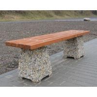 Venkovní betonová lavička Nela bez opěradla