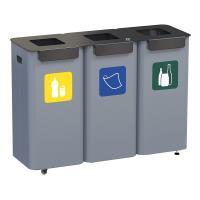 Venkovní koš na třídění odpadu 3 x 70 l