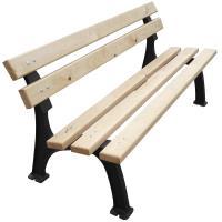 Venkovní litinová lavička Park dřevěné latě