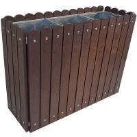 Venkovní odpadkový koš Recyklát bez stříšky 3x75 l