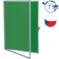 Vitrína TEXT EkoTAB, textilní 150 x 100 cm, zelená