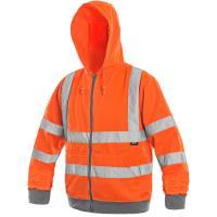 Výstražná mikina FROME oranžová s reflexními prvky, vel. XXXL