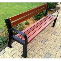 Vyvýšená parková lavička Senior s opěrkou a područkami