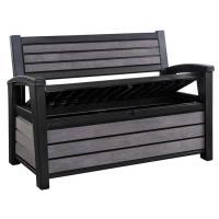 Zahradní lavička s úložným boxem Keter HUDSON STORAGE BENCH - černá