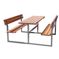 Zahradní sestava MARK - stůl + 2x lavice s opěradlem