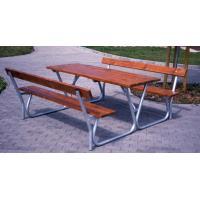 Zahradní stůl a lavičky s opěradlem