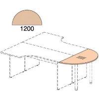 Zakončovací prvek ke kancelářskému stolu řady EXPRESS 2,2 x 120 x 60 cm