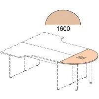 Zakončovací prvek ke kancelářskému stolu řady EXPRESS 2,2 x 160 x 80 cm
