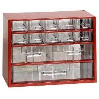 Závěsná skříňka se zásuvkami 10A/2B/1C červená