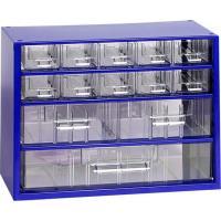 Závěsná skříňka se zásuvkami 10A/2B/1C modrá