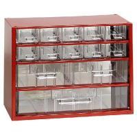 Závěsná skříňka se zásuvkami 10M/2S/1V červená