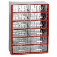 Závěsná skříňka se zásuvkami 12S červená