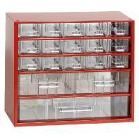 Závěsná skříňka se zásuvkami 15A/2B/1C červená