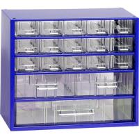 Závěsná skříňka se zásuvkami 15A/2B/1C modrá