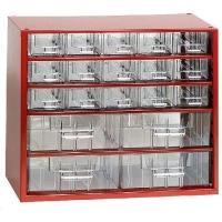 Závěsná skříňka se zásuvkami 15A/4B červená