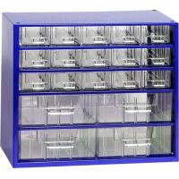 Závěsná skříňka se zásuvkami 15A/4B modrá