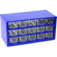 Závěsná skříňka se zásuvkami 15A modrá