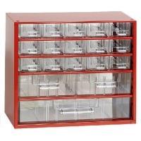 Závěsná skříňka se zásuvkami 15M/2S/1V červená