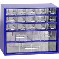 Závěsná skříňka se zásuvkami 15M/2S/1V modrá