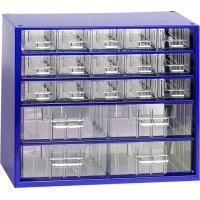Závěsná skříňka se zásuvkami 15M/4S modrá