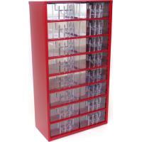 Závěsná skříňka se zásuvkami 16S červená