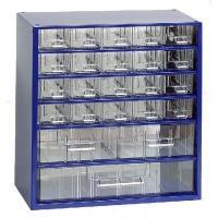 Závěsná skříňka se zásuvkami 20A/2B/1C modrá