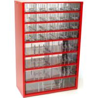 Závěsná skříňka se zásuvkami 20A/6B/1C červená