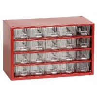 Závěsná skříňka se zásuvkami 20A červená