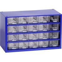 Závěsná skříňka se zásuvkami 20A modrá